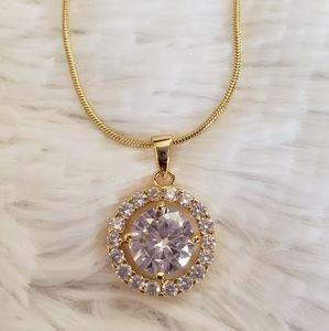 Jewelry - Goldtone CZ Necklace